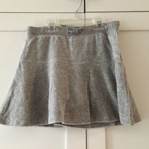Girls Gap size 8 Grey Velour Skort.